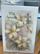 Stationery With Sympathy Cards With Picture of Flowers Pack of 6