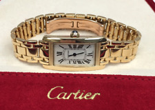 Cartier Tank Americaine W26015K2 18K Yellow Gold