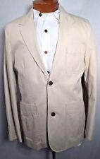 EDDIE BAUER S NWOT Beige Sport Coat Jacket Blazer Cotton Casual