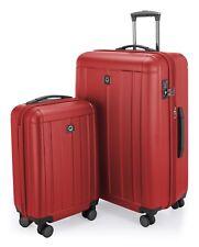 Kotti Set of 2 Hardside Luggages Trolley Suitcase Expandable TSA S & L Red