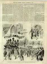 1891 Funeral Of Lord Lytton In Paris
