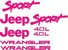 Sport 4.0L Replacement fender Decals sticker TJ 1 SET 1997-2002 JEEP WRANGLER