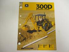 John Deere 300D Backhoe Loader Sales Brochures  !