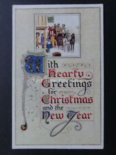 Hearty Greetings for Christmas and the New Year - Old Postcard by J.Salmon 3498