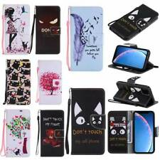 Leather Wallet Case Flip Cover Stand Card Slot for Huawei P30 Lite Y6 2019 More
