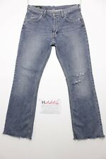 Lee Denver (Cod. H1114) Tg48 W34 L34  accorciato jeans usato bootcut