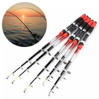 Carbon Fiber Telescopic Fishing Rod Travel Spinning Pole Sea Freshwater UK Be
