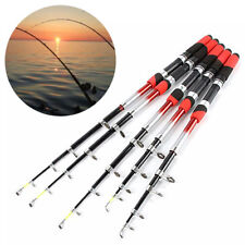 Carbon Fiber Telescopic Fishing Rod Travel Spinning Pole Sea Freshwater UK 1PC