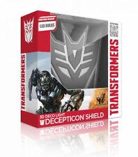 "TRANSFORMERS - Decepticon Shield 9.5"" 3D Deco Light (3D Light FX) #NEW"