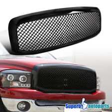 For 2006-2008 Dodge Ram 1500 2500 3500 ABS Front Hood Mesh Glossy Black Grille