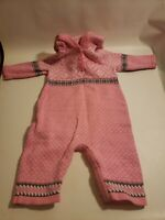 Hanna Anderson Girls Knitted Jumper with Hood Size 70 6-12 months