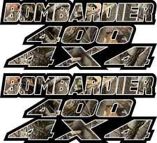 Bombardier 400 4x4 Camo Gas Tank Graphics Decal Sticker Atv car Quad plastic