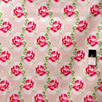 Tanya Whelan PWTW046 Sugar Hill Rose Trellis Pink Fabric By Yd