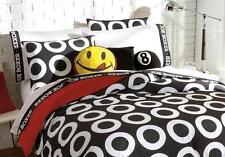 TWIN / SINGLE - Joe Boxer - Joe Doughnut Black White & Red SHAM & COMFORTER SET