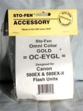 Sto-Fen OmniBounce OC-EYGL Gold Diffuser f/ Canon 580EX  Stofen Free Ship
