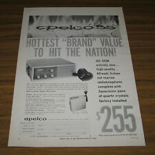 1968 Vintage Ad Apelco Marine Radios Radiotelephone