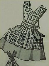 SALE Vintage Bib Apron Full Size Pattern Cover All 50s Style Sewing Project
