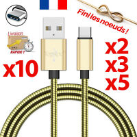 CABLE USB TYPE-C CHARGEUR SYNCRO POUR SAMSUNG GALAXY S8 S9 PLUS NOTE 8 OR METAL