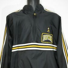 Vintage 90s Adidas University Of Iowa Hawkeyes Tracksuit XL Black Nylon