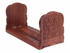 Hand Carving Book Stand Holder Bookends CD DVD Stand Rack Home Decor Art
