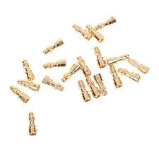 20 Pcs 3.5mm RC Gold Bullet Connector Battery  Banana Plug   connectors Male  QW