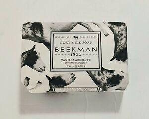 Beekman 1802 Goat Milk Soap Vanilla Absolute 9oz Bar Sulfate & Paraben Free