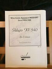 Mozart D. Walter Adagio KV 540 pour quintette à vent partition Notissimo