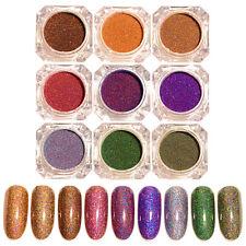 9 Colors/set Starry Holographic Laser Powder Manicure Nail Art Glitter Powder