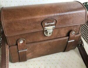 Vintage Marsand Brown Leather Camera Bag with Shoulder Strap