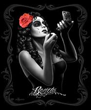 David Gonzales Art DGA Bonita Makeup Rose Skull Tattoo Punk Queen Blanket