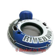 Intex One River Run I Inflatable Tube - 1 Person Rider Blue & Gray - 58825