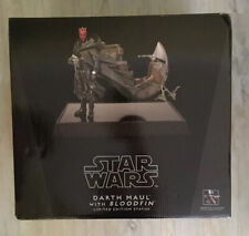 Star Wars Gentle Giant Darth Maul With Bloodfin Limited Edition Statue New W Box