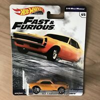 Hot Wheels Fast And Furious 67 CHEVROLET CAMARO 1/4 Mile Muscle 4/5 VHTF IN HAND