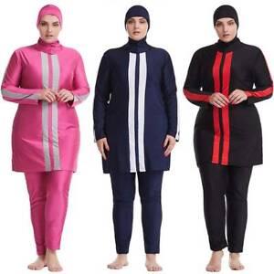 Islamic Women Muslim Full Cover Swimming Costume Beach Swimwear Burkini Swimsuit