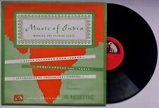 USTAD ALI AKBAR KHAN / PANDIT CHATUR LAL Music of India U.K. HMV ALPC 2 EX/EX