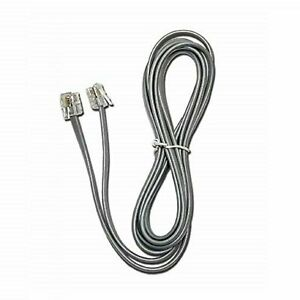 7FT Line Cord Cable 6P6C RJ12 RJ11 DSL Modem Fax Phone Landline Telephone