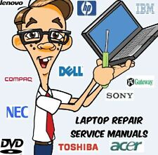 Laptop Repair & Service Manuals Major Manufacturers * PDFs * 2 DVDs over 1100