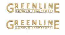 3 PR MODEL BUS WATERSLIDE TRANSFERS 1/76th SCALE GREENLINE UL FLEETNAMES 15mm