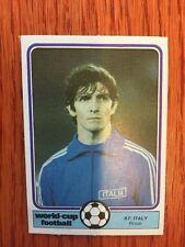 Monty Gum 1982 Coppa Del Mondo Calciatore Carta Paolo Rossi Italia Juventus