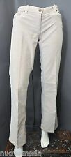 Womens Miu Miu Low Rise Loose Fit Light Beige Corduroy Pants/Jeans Size 28 Italy