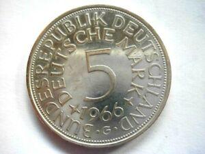 5 DM Silberadler 1966 G  Erhaltung !! siehe Originalfotos