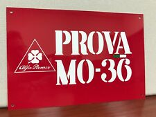 Vintage Reproduction ALfa Clover Romeo Prova Mo 36 Italian Racing   Garage Sign