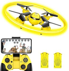 Q8 FPV Drone with Camera for Kids Adults,RC Helicopter with LED Light and Altitu