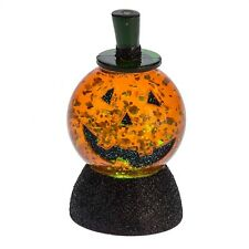 Jack O' Lantern Water Globe Pumpkin Light Up Halloween Retro Vintage Style Decor