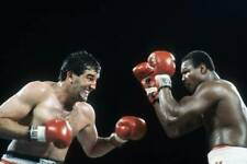 Old Boxing Photo Gerry Cooney Looks To Throw A Punch Against Larry Holmes