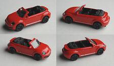 MAJORETTE-VW BEETLE CABRIOLET rouge avec Noirs Jantes radvariante 3