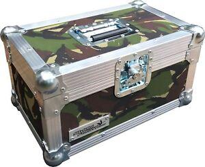 "7"" Single 200 Swan Flight Case Vinyl Record Box (Camouflage Material)"