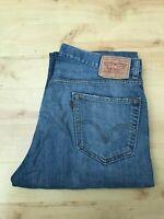 Men's Levi's 505 Straight Leg Blue Jeans W36 L34 (#A817)