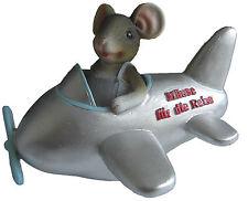 Spardose Sparschwein Reisekasse Maus im Flugzeug Geldgeschenke Flugreise Urlaub