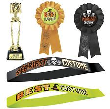 🎃Halloween Best Costume Scariest Award Rosette Trophy Sash Badge Ribbon Prize👻